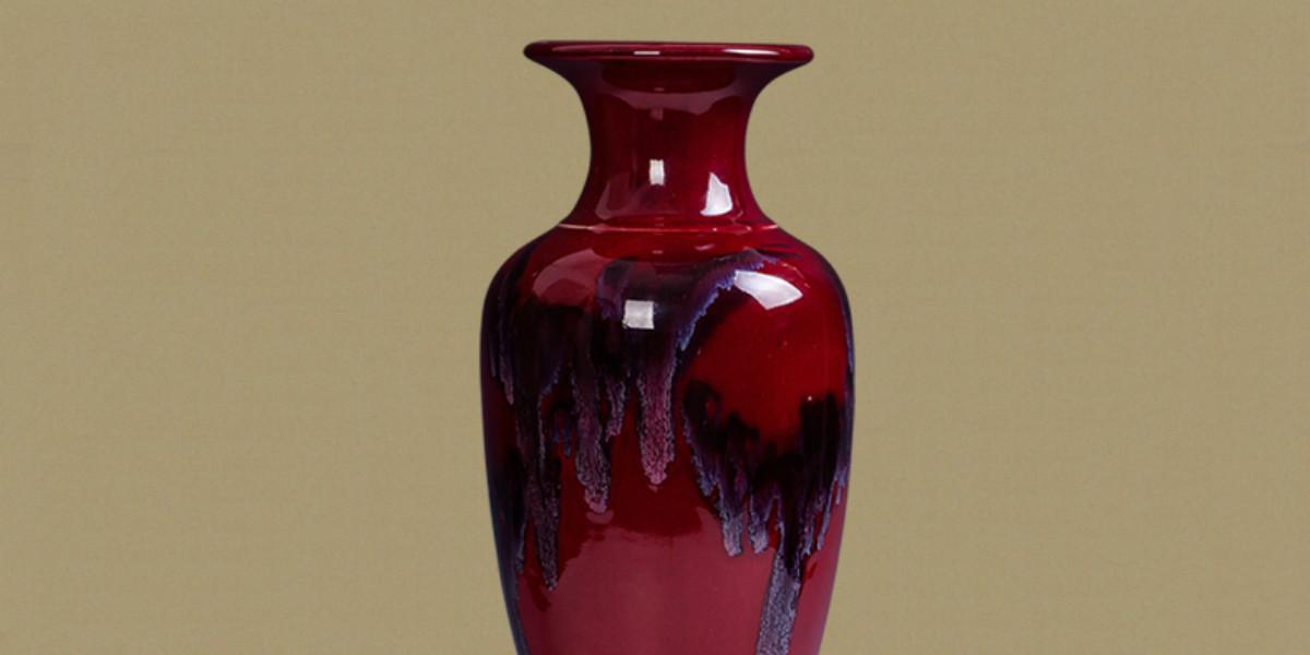 钧瓷仿古开片落地大花瓶大号鱼尾瓶现代家居客厅摆设